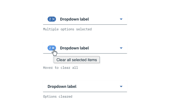 clear all on multiselect dropdown